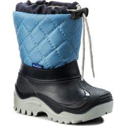 Buty zimowe chłopięce: Śniegowce MUFLON – 22-477CH Granatowy Niebieski
