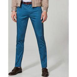 Rurki męskie: Spodnie slim fit – Turkusowy
