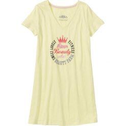 Koszula nocna bonprix żółty z nadrukiem. Żółte koszule nocne i halki marki bonprix, z nadrukiem. Za 24,99 zł.