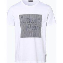 Calvin Klein - T-shirt męski, czarny. Czarne t-shirty męskie z nadrukiem marki Calvin Klein, m, z bawełny. Za 229,95 zł.