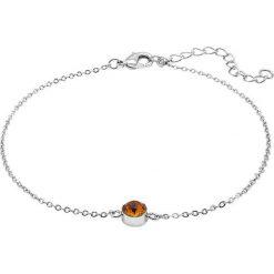 Bransoletki damskie na nogę: Pozłacana bransoletka z kryształem Swarovski na kostkę