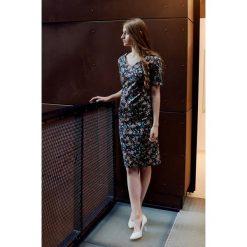 Sukienki balowe: Sukienka Klio czarna w kwiaty 32