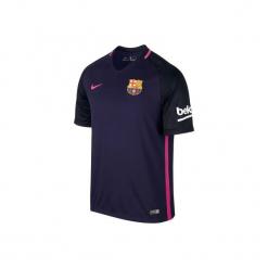 Koszulka krótki rękaw do piłki nożnej Barcelona. Niebieskie topy sportowe damskie marki Nike, xl, z poliesteru. W wyprzedaży za 199,99 zł.