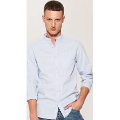 Koszula ze stójką - Niebieski. Niebieskie koszule męskie na spinki House, l, ze stójką. Za 89,99 zł.