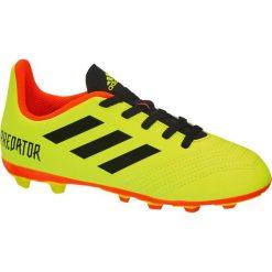 Buciki niemowlęce chłopięce: piłkarskie buty dziecięce adidas Predator 18.4 FxG adidas żółte