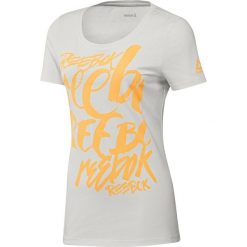 Bluzki damskie: Reebok Koszulka damska Super Scripty Scoop biała r. M (BK6648)