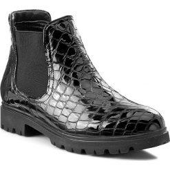 Botki damskie lity: Sztyblety LANQIER - 37C526  Black Crocodile