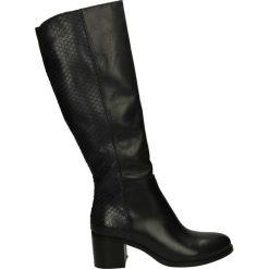 Kozaki - 314-8060 T BL. Czarne buty zimowe damskie marki Venezia, ze skóry. Za 289,00 zł.