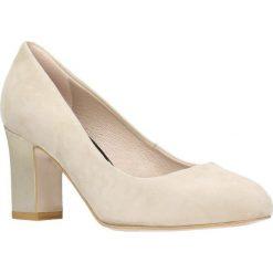 Czółenka LENA. Szare buty ślubne damskie marki Graceland, z materiału, na obcasie. Za 199,90 zł.