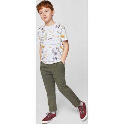 Mango Kids - T-shirt dziecięcy Technic 110-164 cm. Szare t-shirty chłopięce marki Mango Kids, z bawełny, z okrągłym kołnierzem. W wyprzedaży za 19,90 zł.