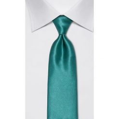 Krawaty męskie: Jedwabny krawat w kolorze morskim – szer. 8 cm