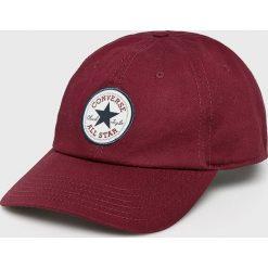 Converse - Czapka. Brązowe czapki z daszkiem damskie Converse, z bawełny. W wyprzedaży za 69,90 zł.