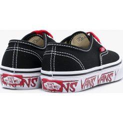 Vans - Tenisówki dziecięce Authentic. Szare buty sportowe dziewczęce marki Vans, z materiału, na sznurówki. W wyprzedaży za 179,90 zł.