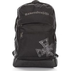 DUŻY PLECAK  WOJSKOWY NA LAPTOPA. Czarne plecaki męskie marki Kameradenhilfe, ze skóry, militarne. Za 129,90 zł.