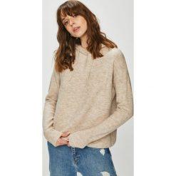 Review - Sweter. Szare swetry klasyczne damskie Review, m, z dzianiny, z kapturem. Za 129,90 zł.