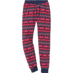 Spodnie piżamowe bonprix ciemnoniebieski wzorzysty. Niebieskie piżamy damskie bonprix. Za 44,99 zł.