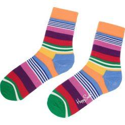Skarpety Wysokie Unisex HAPPY SOCKS - MST01-3000 Kolorowy. Szare skarpetki męskie Happy Socks, w kolorowe wzory, z bawełny. Za 34,90 zł.