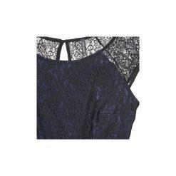 Sukienki krótkie Naf Naf  LYLITA. Niebieskie sukienki mini marki NAF NAF, z krótkim rękawem. Za 247,20 zł.