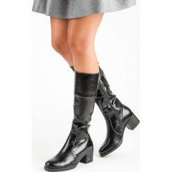 CZARNE KOZAKI NA OBCASIE VINCEZA. Czarne buty zimowe damskie Vinceza, na obcasie. Za 189,00 zł.