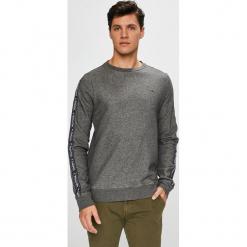 Tommy Hilfiger - Bluza. Szare bluzy męskie rozpinane marki TOMMY HILFIGER, l, z aplikacjami, z bawełny, bez kaptura. Za 299,90 zł.