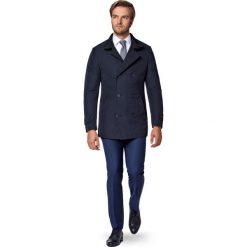 Płaszcz Granatowy Apollos. Niebieskie płaszcze na zamek męskie marki LANCERTO, na zimę, l, z tkaniny, eleganckie. W wyprzedaży za 499,90 zł.