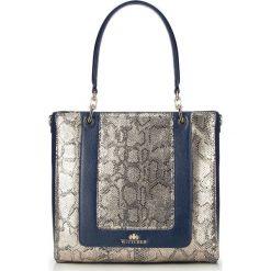 Torebka damska 86-4E-370-7. Niebieskie torebki klasyczne damskie Wittchen, z motywem zwierzęcym. Za 449,00 zł.