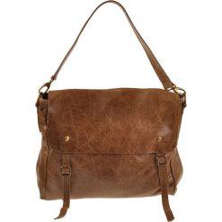 Torebki klasyczne damskie: Skórzana torebka w kolorze jasnobrązowym – 31 x 27 x 12 cm