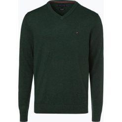Tommy Hilfiger - Sweter męski z dodatkiem kaszmiru, zielony. Zielone swetry klasyczne męskie TOMMY HILFIGER, m, z dzianiny. Za 449,95 zł.