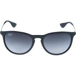 RayBan ERIKA Okulary przeciwsłoneczne schwarz. Szare okulary przeciwsłoneczne damskie lenonki marki Ray-Ban, z materiału. Za 489,00 zł.
