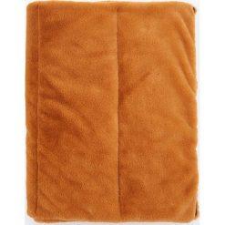 Pikowane ponczo ze sztucznym futrem - Pomarańczo. Żółte poncza marki B'TWIN. W wyprzedaży za 79,99 zł.