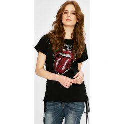 Medicine - Top Rock & Roll Never Ends. Brązowe topy damskie marki MEDICINE, l, z nadrukiem, z bawełny, z okrągłym kołnierzem. Za 69,90 zł.
