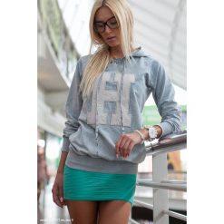 Bluza JSzary F205. Czarne bluzy damskie marki Fasardi, m, z dresówki. Za 39,00 zł.