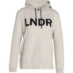 LNDR COLLEGE  Bluza z kapturem mottled grey. Szare bluzy rozpinane damskie LNDR, xs, z bawełny, z kapturem. Za 719,00 zł.