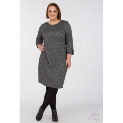 Sukienki: Prosta sukienka w połyskujące plamki Plus
