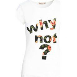 Bluzki, topy, tuniki: Kremowy T-shirt Shadows of dreams