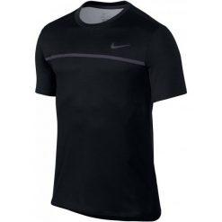 Nike Męska Koszulka Challenger Crew Black Gridiron Black Xl. Czarne koszulki do fitnessu męskie Nike, m. Za 215,00 zł.