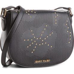 Torebka JENNY FAIRY - RS0176 Czarny. Czarne listonoszki damskie Jenny Fairy, ze skóry ekologicznej. Za 89,99 zł.