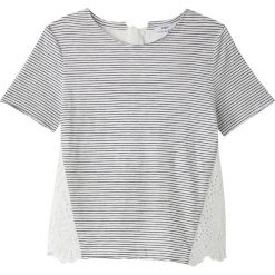 T-shirty damskie: T-shirt z okrągłym dekoltem, krótki rękaw, paski