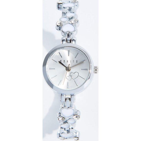 0900e33581a7cc Zegarek z ozdobną bransoletą - Srebrny - Szare zegarki damskie ...