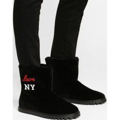 Joshua Sanders Botki love new york. Czarne botki damskie na zamek Joshua Sanders, z futra, klasyczne. W wyprzedaży za 599,60 zł.