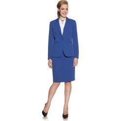 Spódnice wieczorowe: Kobaltowa Spódnica Ołówkowa Do Kolan