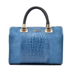 Torebki klasyczne damskie: Skórzana torebka w kolorze niebieskim – (S)29 x (W)49 x (G)17 cm
