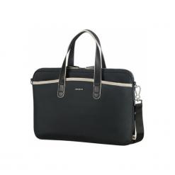 """Samsonite Nefti 15.6"""" czarna / piaskowa. Czarne torby na laptopa Samsonite, w kolorowe wzory. Za 319,00 zł."""