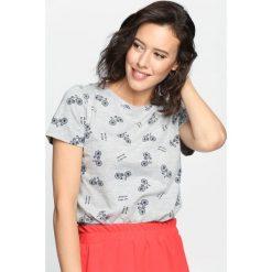 Szary T-shirt Brooklyn Baby. Szare bluzki asymetryczne Born2be, l. Za 19,99 zł.