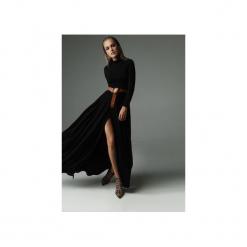 Sukienka Storm - czarna. Czarne sukienki dzianinowe marki Madnezz, s, z aplikacjami, z golfem, dopasowane. Za 369,00 zł.