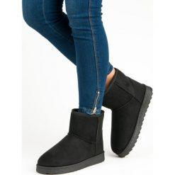 NISKIE ŚNIEGOWCE VINCEZA. Czarne buty zimowe damskie marki Vinceza, na niskim obcasie. Za 76,90 zł.