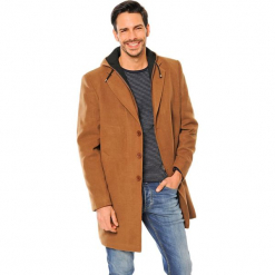 Płaszcz w kolorze brązowym. Brązowe płaszcze zimowe męskie marki AVVA, Dewberry, m. Za 489,95 zł.