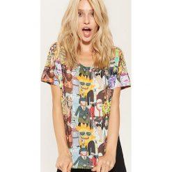 T-shirt z nadrukiem Rick and Morty - Wielobarwn. Różowe t-shirty damskie marki House, l, z nadrukiem. Za 39,99 zł.