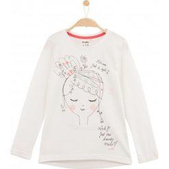 Bluzki dziewczęce: Luźna bluzka z długim rękawem dla dziewczynki