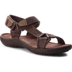 Sandały LASOCKI FOR MEN - MI18-975 Brązowy Ciemny. Brązowe sandały męskie skórzane Lasocki For Men. Za 119,99 zł.